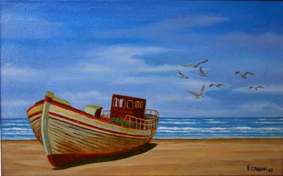 Vincenzo carboni espone alla palazzina azzurra for Paesaggi marini dipinti